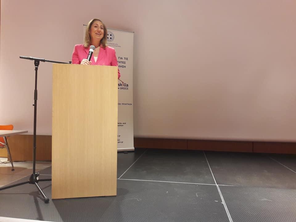 Η Υπουργός Διοικητικής Ανασυγκρότησης κα Μαριλίζα Ξενογιαννακοπούλου.